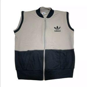 Adidas Vintage Colorblock Gray Black Vest 80's